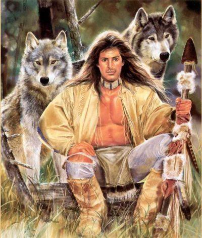 человек и волки